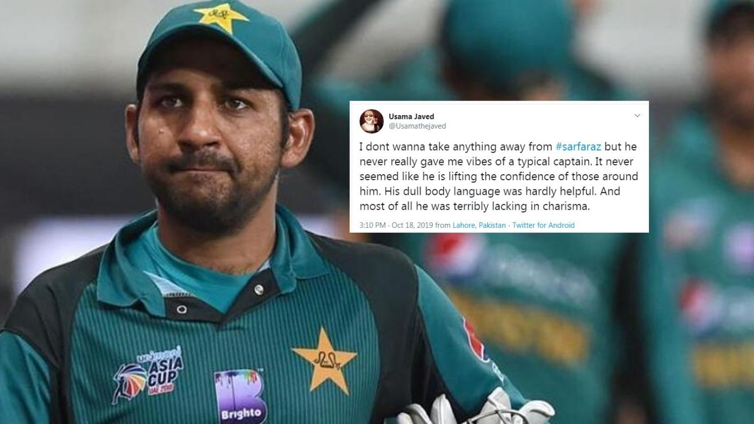 'Dumbest Decision' or Not? Twitter Divided on Sarfaraz' Sacking