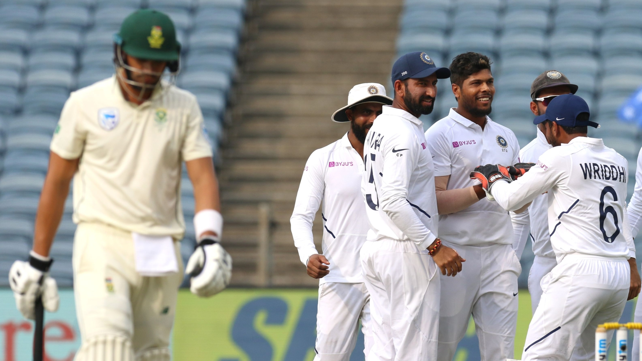 Pune Test, Day 2: SA 36/3 at Stumps, Trail India by 565 Runs