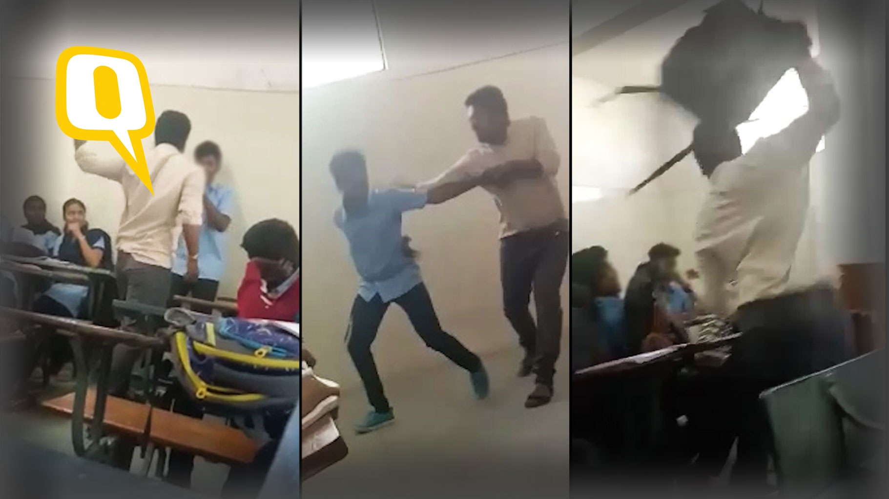 Caught on Cam: Teacher Thrashes Student Over A Joke in Bengaluru