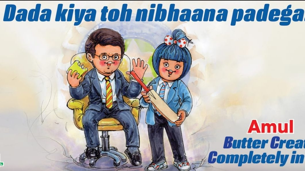 Amul Congratulates BCCI President-Elect Ganguly in Their Own Style