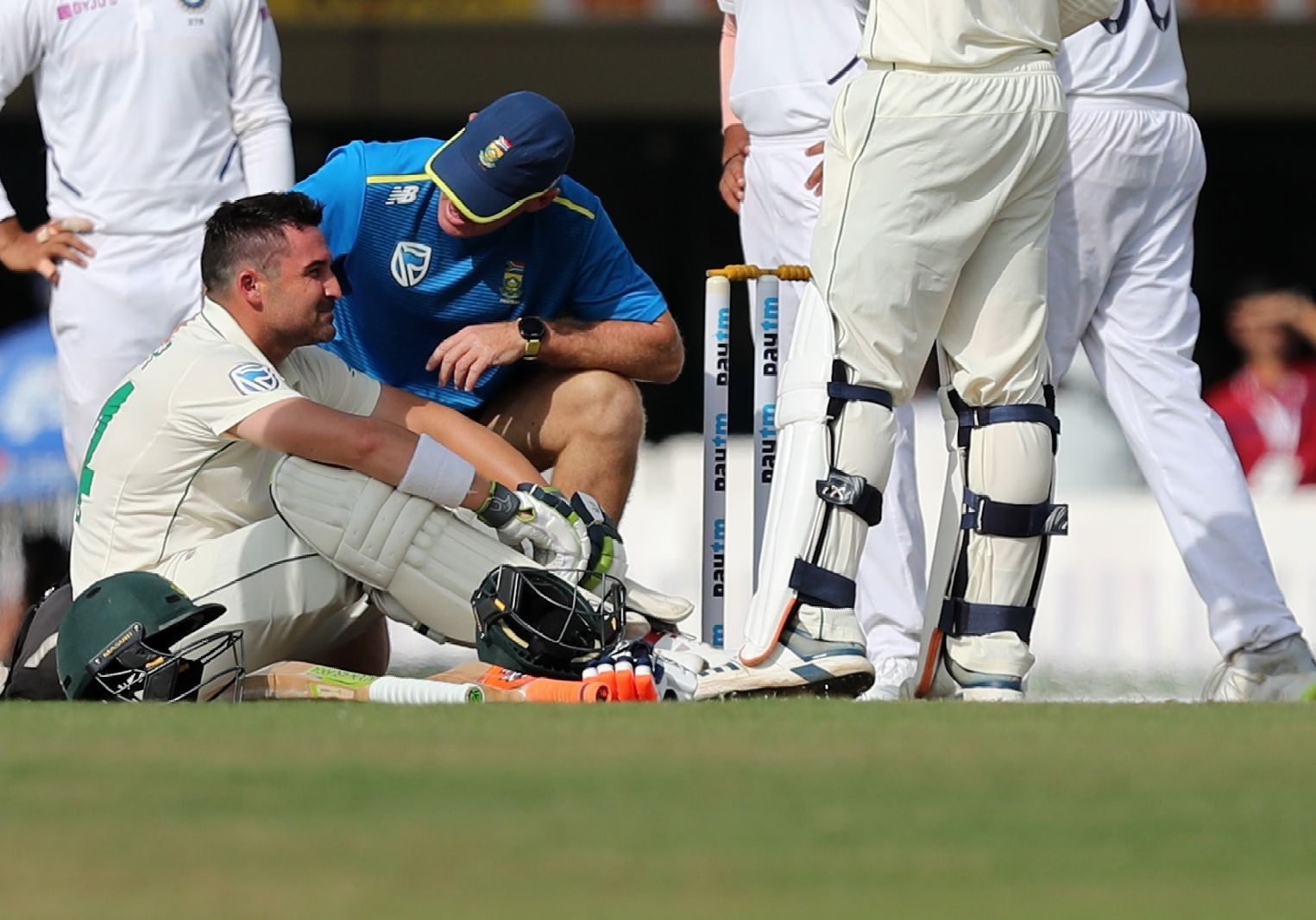India vs SA: De Bruyn Comes in as Concussion Substitute for Elgar