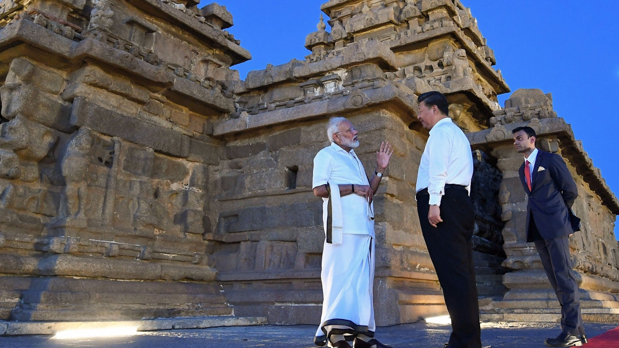 Modi-Xi Meet Begins With Veshti, Heritage Walk and Nariyal Paani