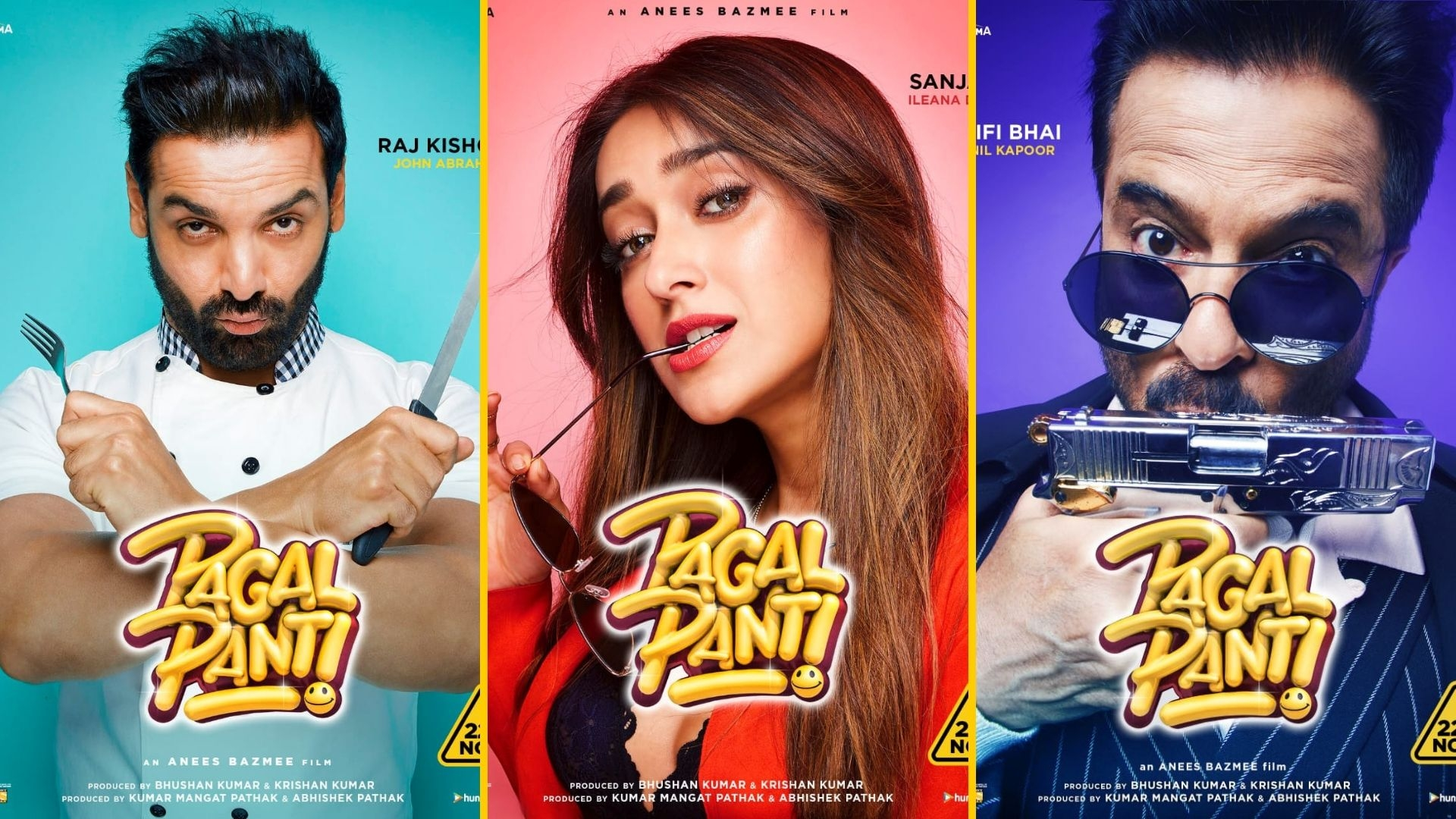 John, Ileana & Gang Go Crazy in 'Pagalpanti' Character Posters