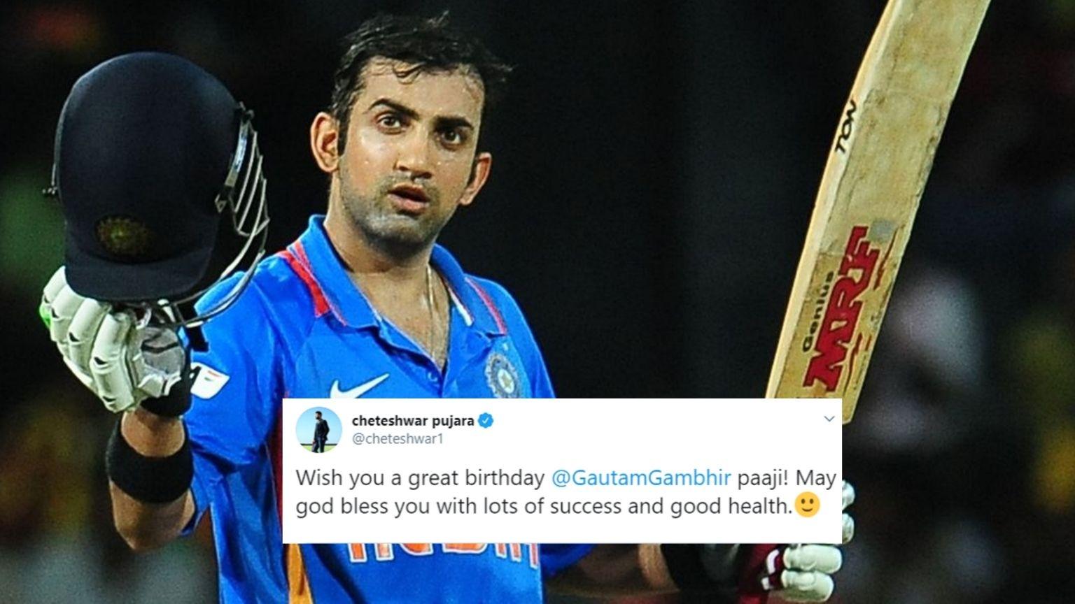 Cricket Fraternity Wishes Gautam Gambhir on His 38th Birthday