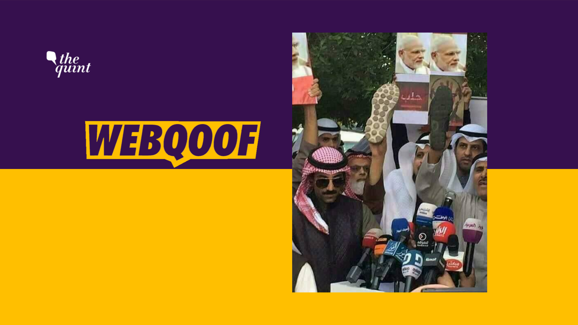 Protest in Kuwait Against Putin Shared as Anti-Modi Demonstration