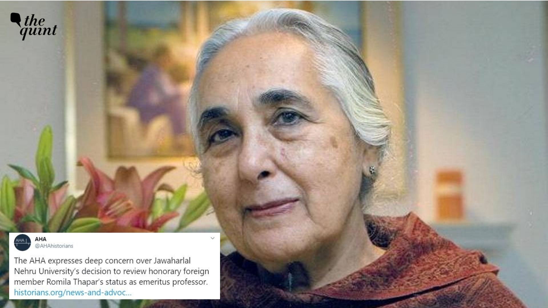 No Need to Review Position: AHA to JNU Over Romila Thapar CV Row