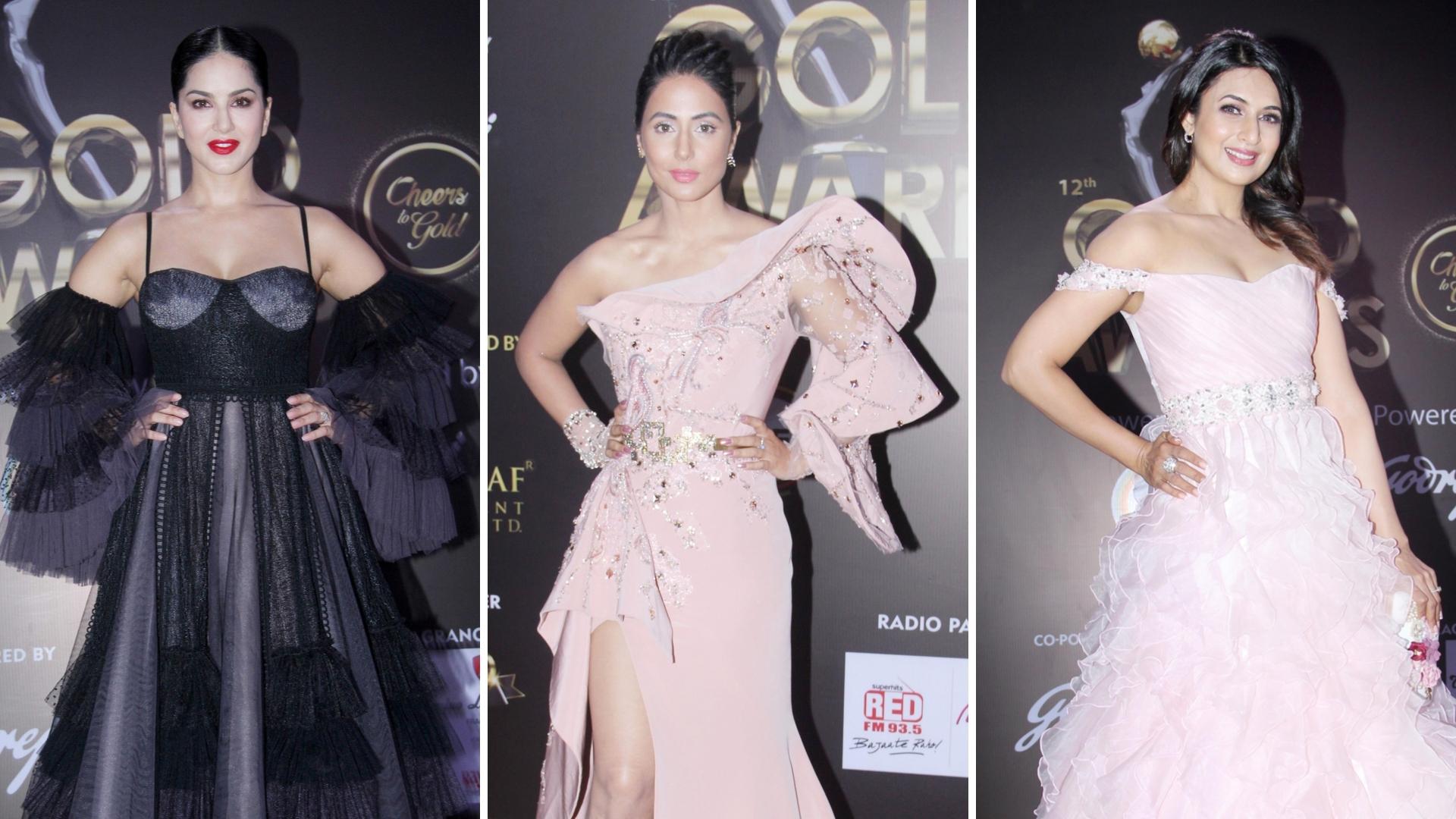 In Pics: Sunny, Hina, Divyanka & More at the Gold Awards 2019