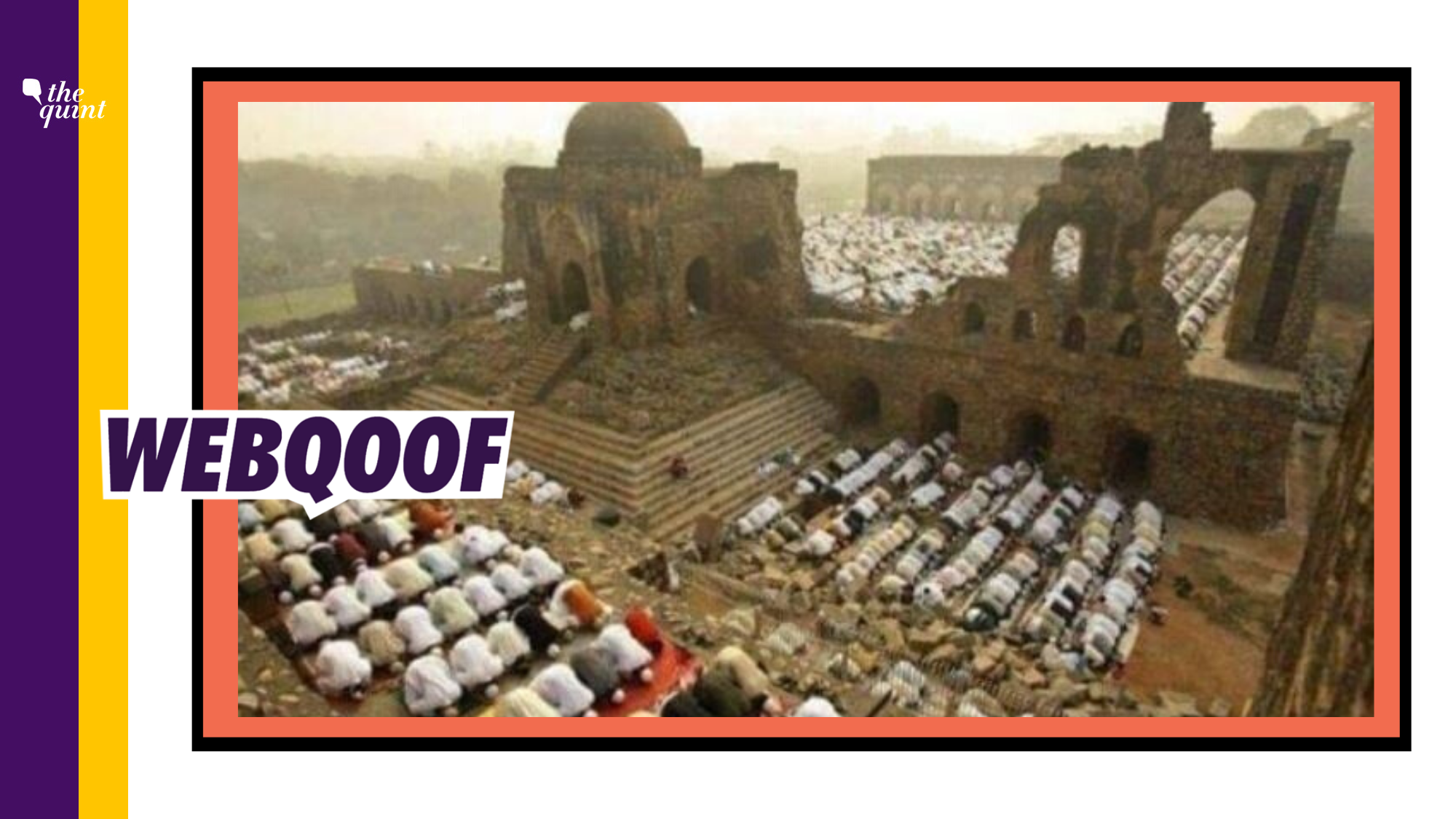 Last Namaz Offered at Babri Masjid Site? No, Image Is From Delhi