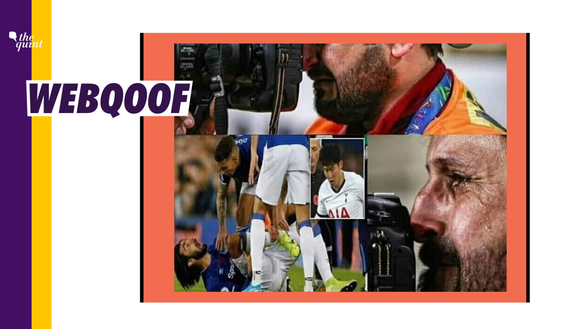 Photographer Cried When Andre Gomes' Ankle Broke? No, Photo is Old