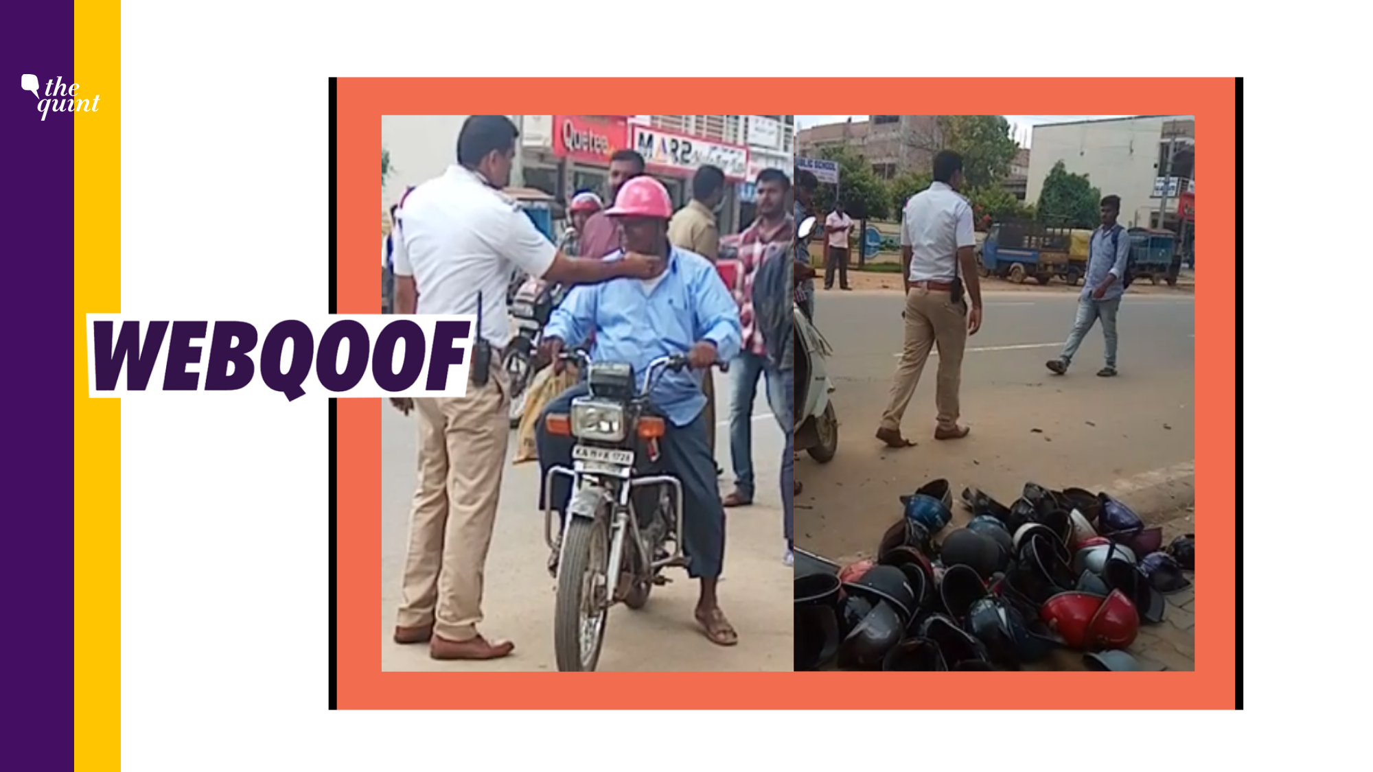 'Low Class' Helmets Banned in Hyderabad? No, Video Is From K'taka