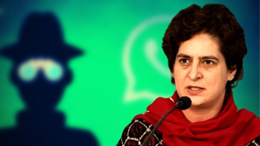 'Priyanka Gandhi's WhatsApp Hacked Through Pegasus Spyware': Cong