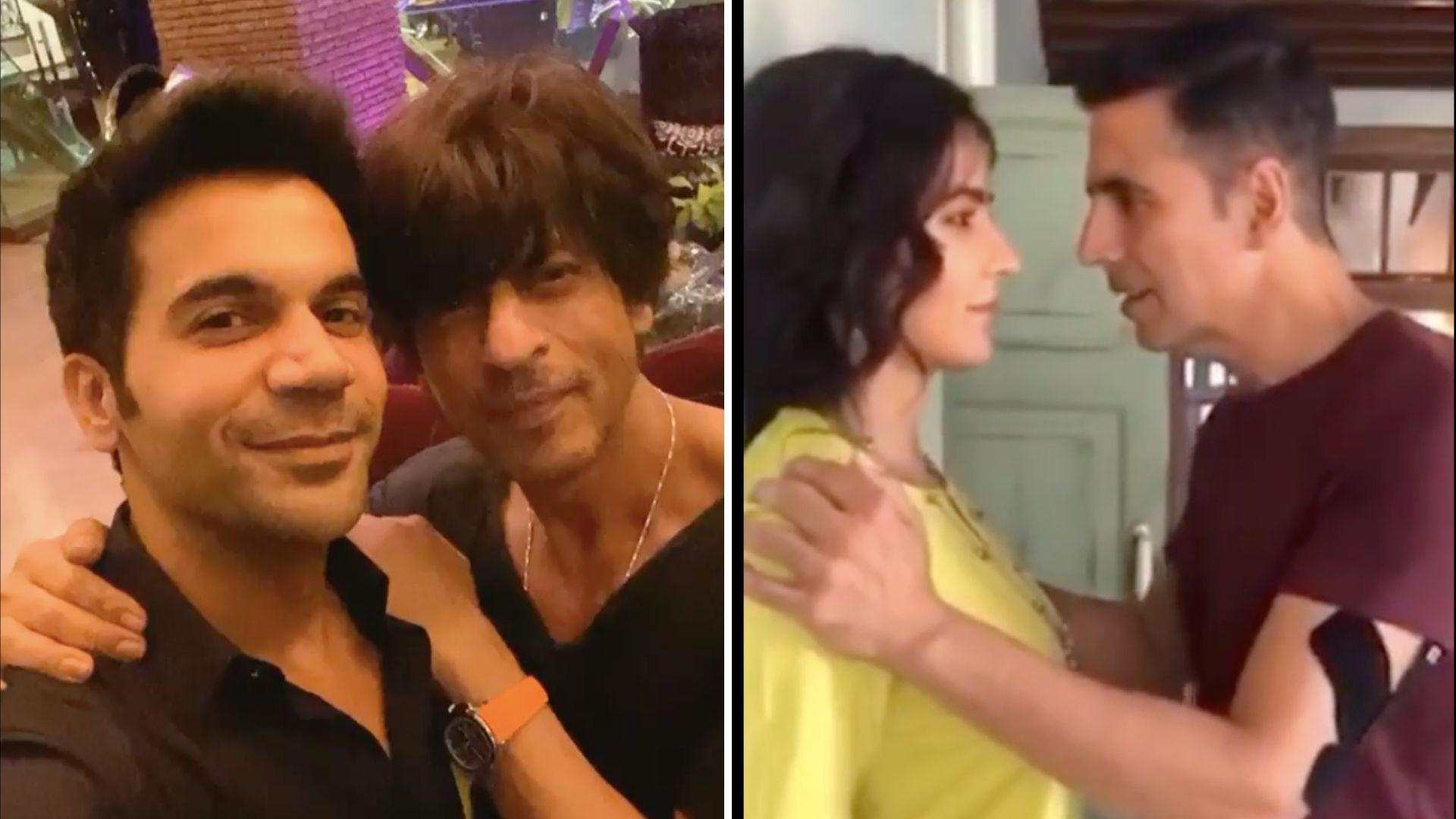 QuickE: SRK Bowls Rajkummar Over; Akshay Injured on Sets