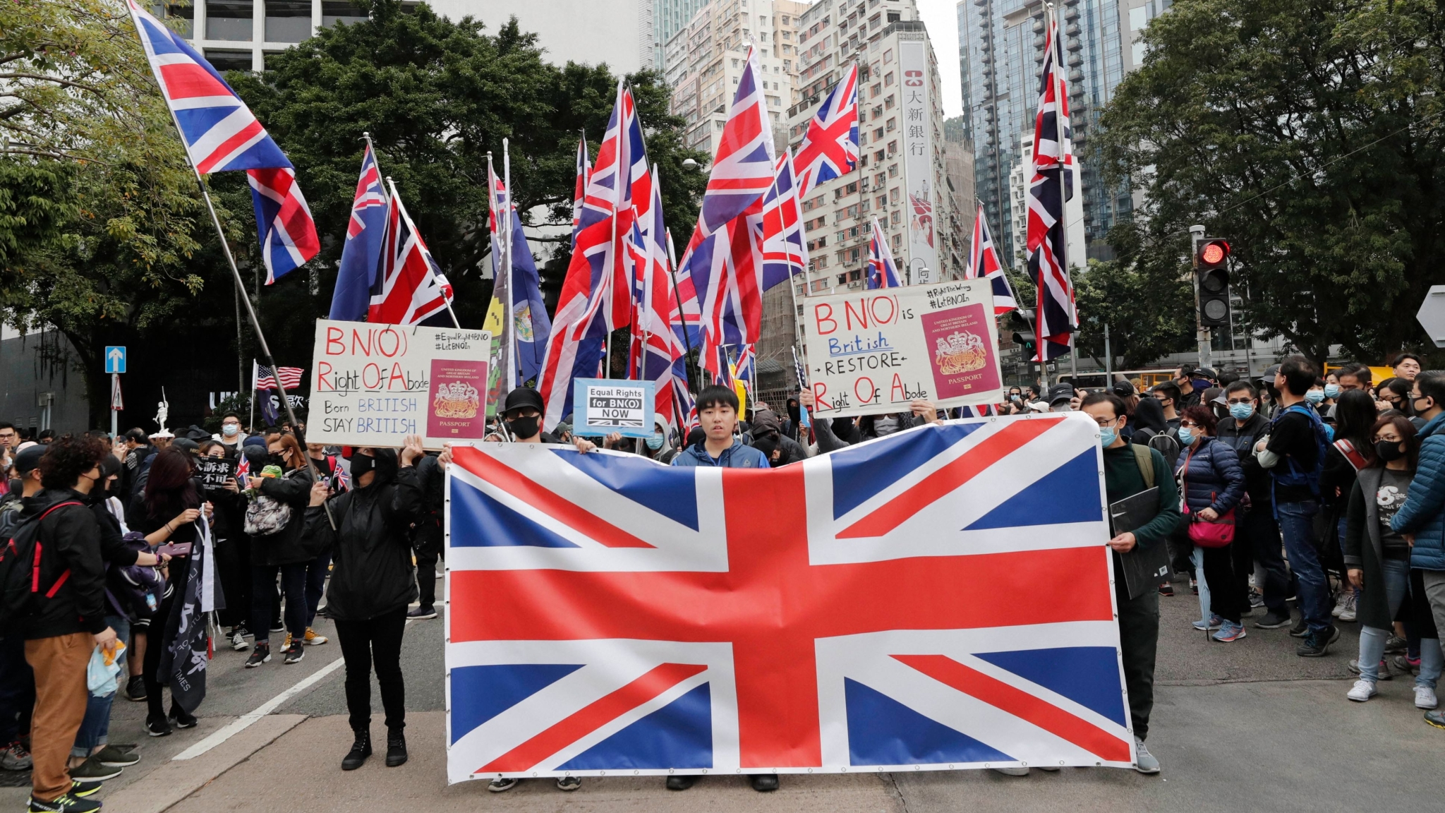 Pro-Democracy Protesters March in Hong Kong on New Year's Day
