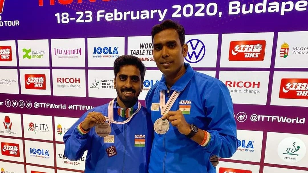 Silver for Sharath, Sathiyan at Hungarian Open