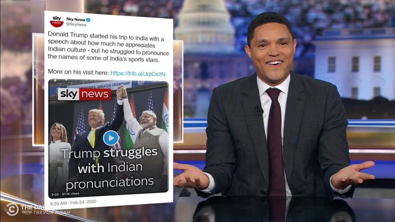 'Indians, Don't be Mad,' Trevor Noah on Trump's Mispronunciations thumbnail