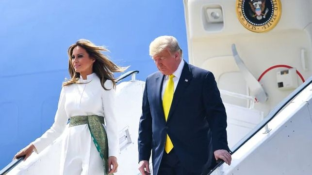 All About Melania Trump's White Pantsuit For India Visit