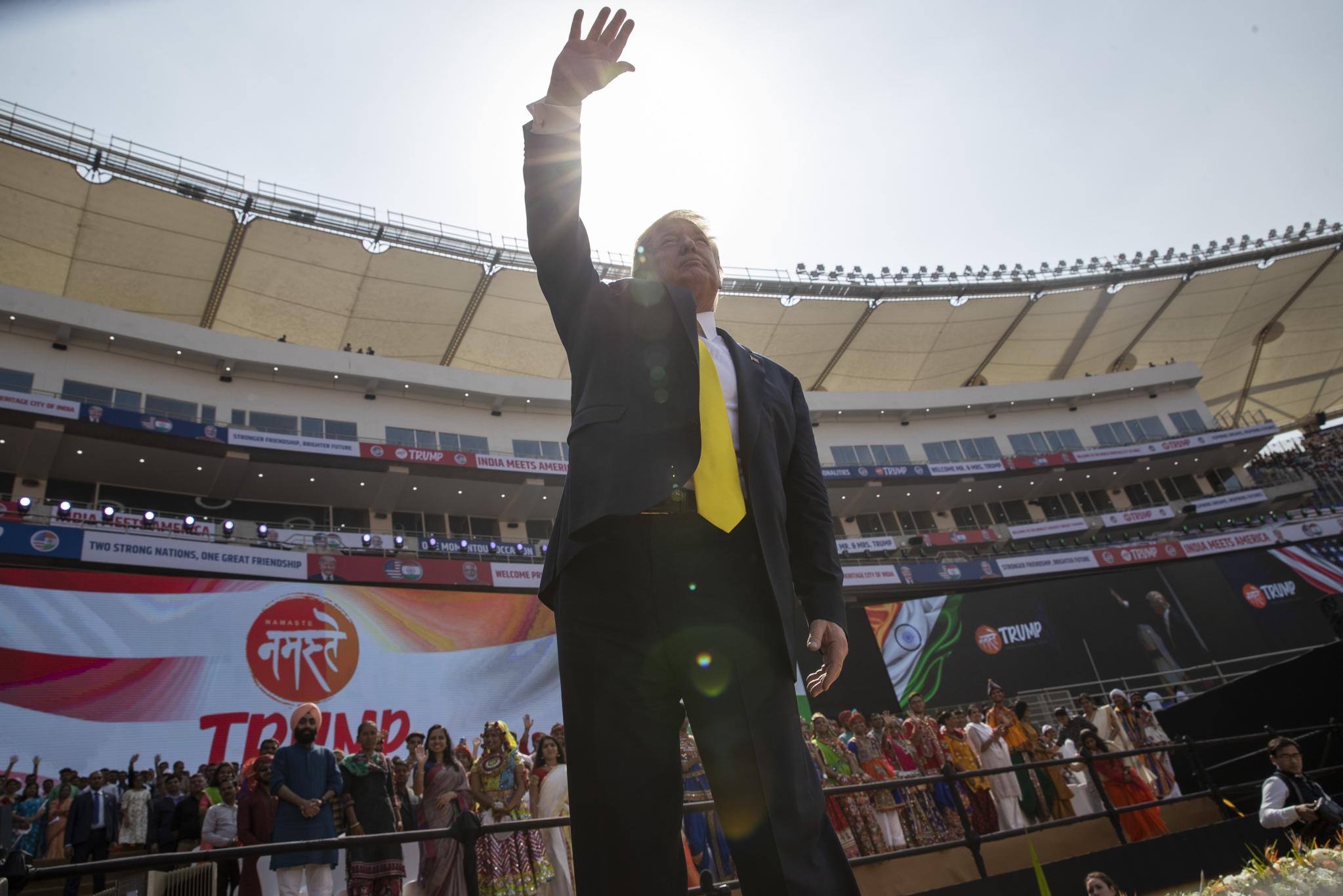 In Pics: India Celebrates US President Trump's Grand Arrival