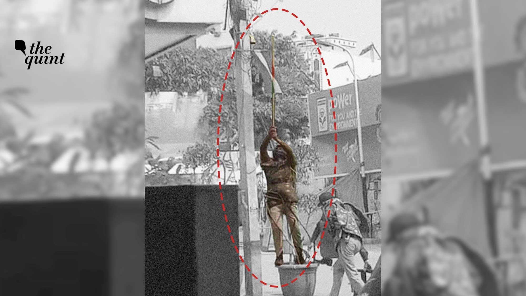 Video Shows Police 'Breaking CCTV' Near Khureji Protest Site