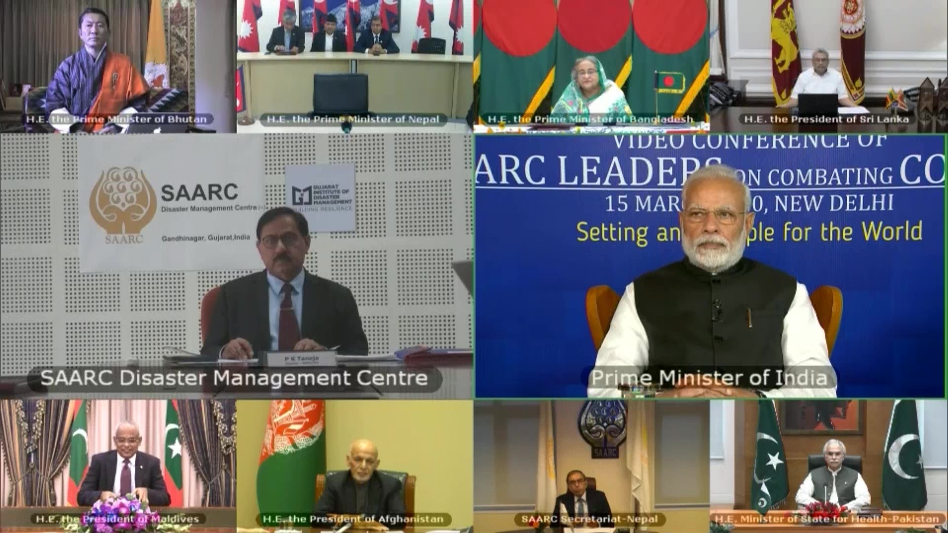 Image result for 1 million USD dispersed to SAARC nations under Emergency COVID-19 Funds