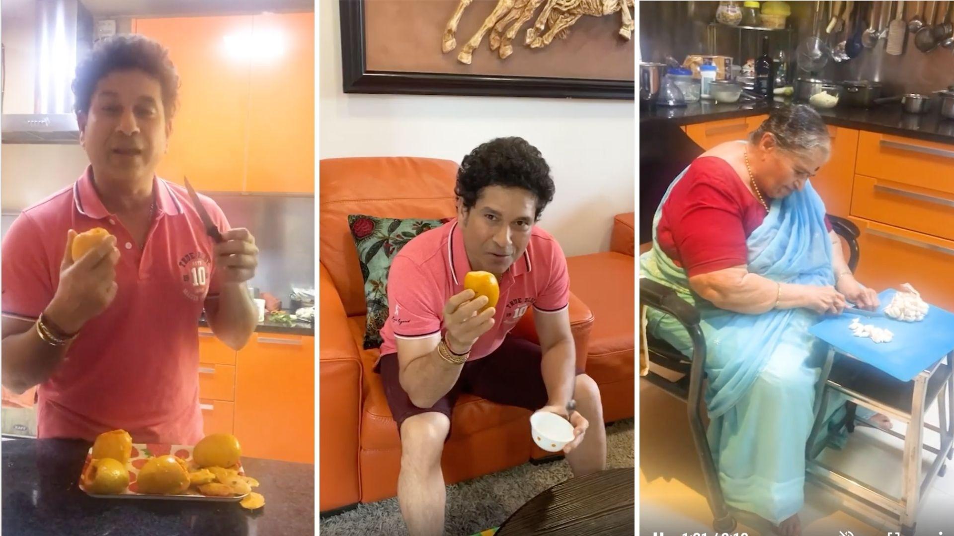 Tendulkar Makes Special Mango Kulfi For 25th Wedding Anniversary