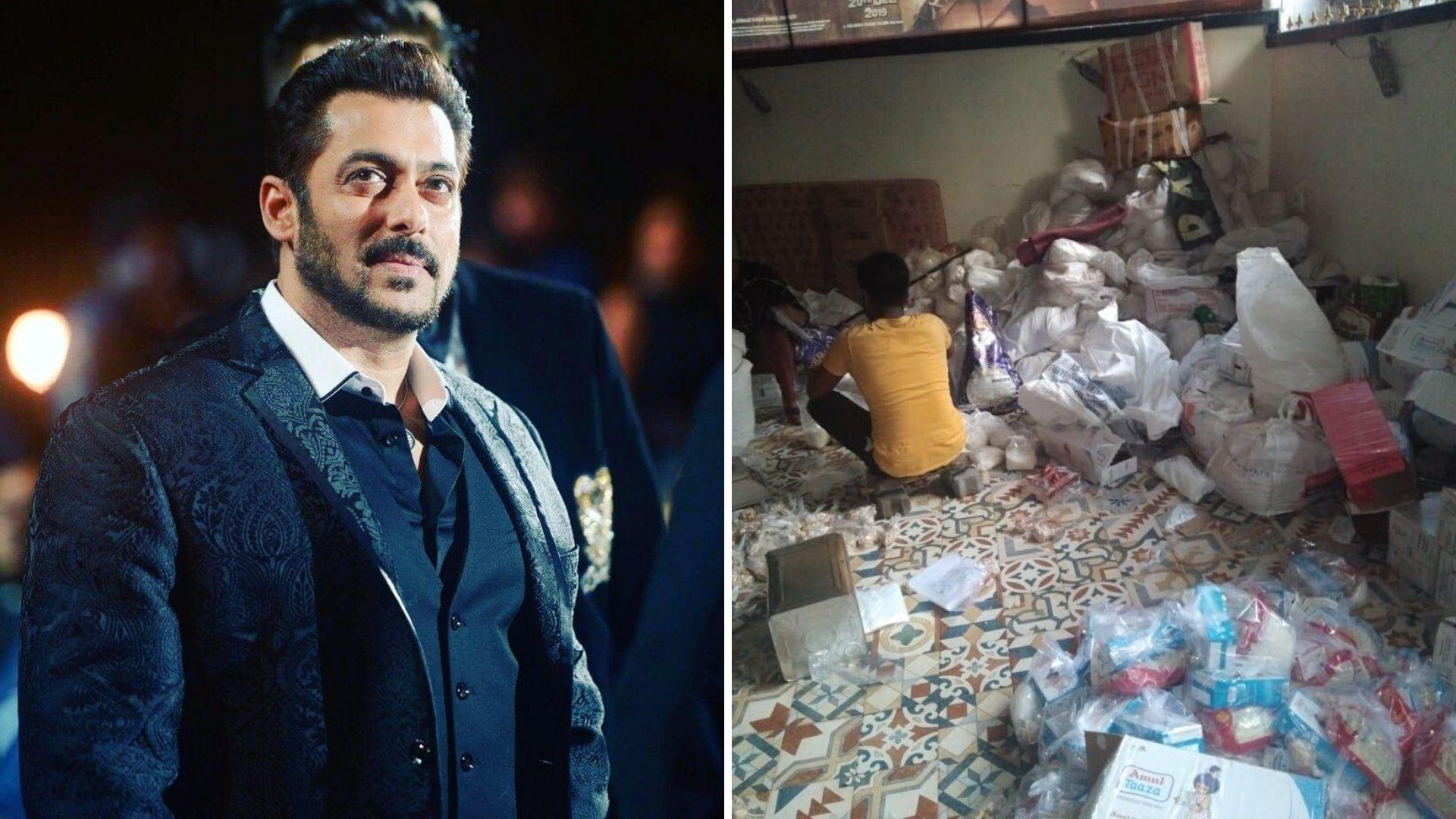 Salman Gifts Sheer Khurma Ingredients to 5,000 Families on Eid