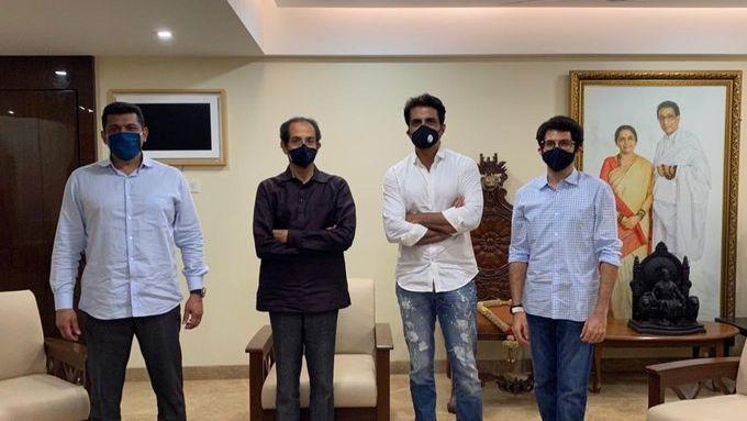 Under Fire From Sena, Actor Sonu Sood Meets CM Uddhav at Matoshree