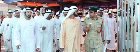 HH Sheikh Mohammed Reviews Dubai Airport