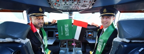 Emirates Lands in Saudi for National Day