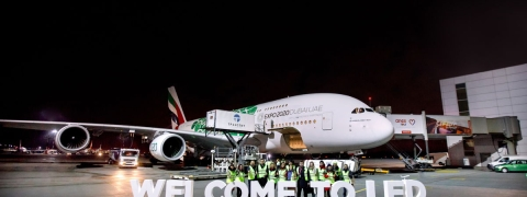 Emirates' Iconic A380 Touches Down at St. Petersburg