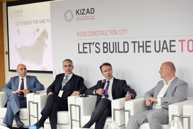 (From left to right) Riad Bsaibes, President & CEO, AMANA Investments, Stylianos Tsoktouridis, General Manager, Talex (Taweelah Aluminium Extrusion Company), Julian Skyrme, Director - Commercial at Abu Dhabi Ports, Edwin Lammers, Vice President -Commercial, KIZAD, taking part in a panel discussion.