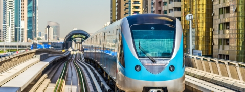 First of the New Metro Trains Arrive in Dubai