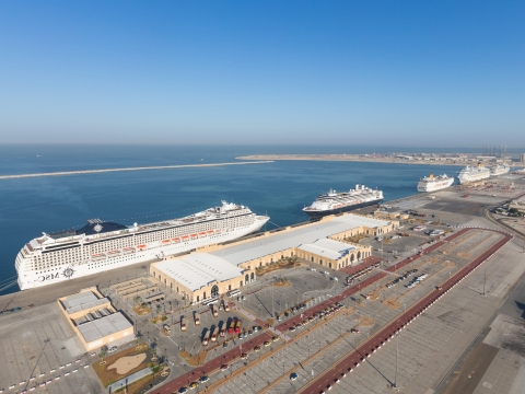 Port Rashid Receives 5 Cruise Liners in a Single Day