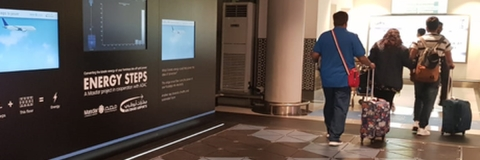 AUH First to Harvest Energy and Data from Passenger Footsteps