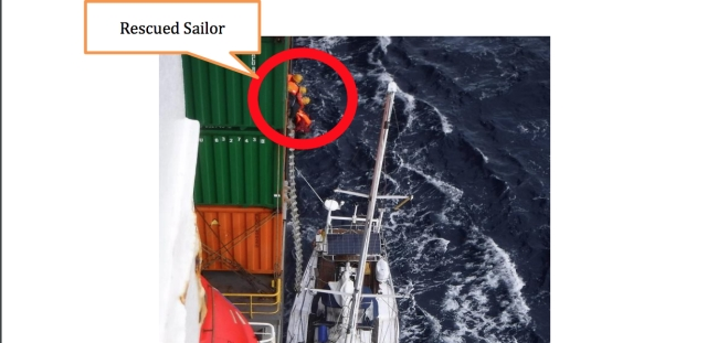 ONE Ship Rescues Stranded Sailor