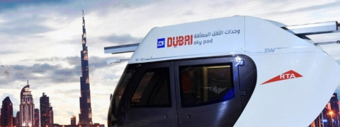 Mohammed bin Rashid Reviews Sky Pod Models
