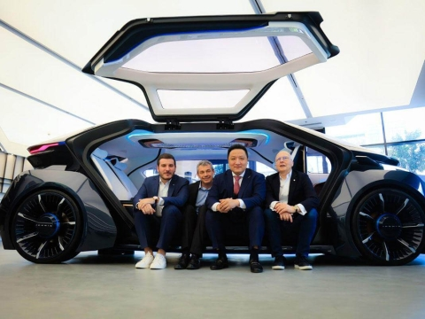 Made in UAE  Autonomous Car Unveiled at Auto Shanghai