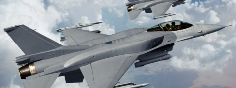 F 16 fighter aircraft