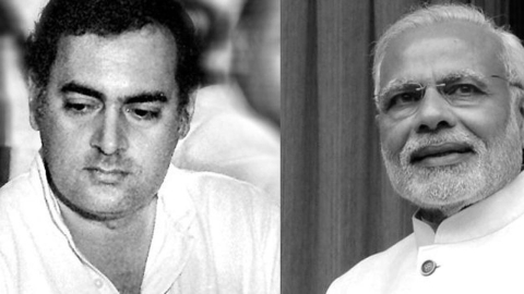PM MODI AND RAJIV GANDHI