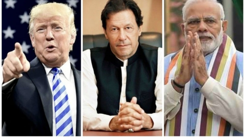 American President Donald trump, Pakistan's PM Imran Khan, Indian PM Narendra Modi