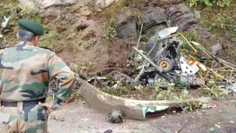 ndian Army helicopter crashed near Yonphulla in Bhutan