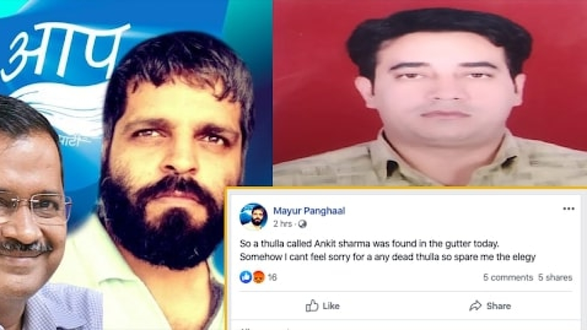 Aam Admi Party Leader Mayur Panghaal Controversial Remark on Ankit Sharma Death