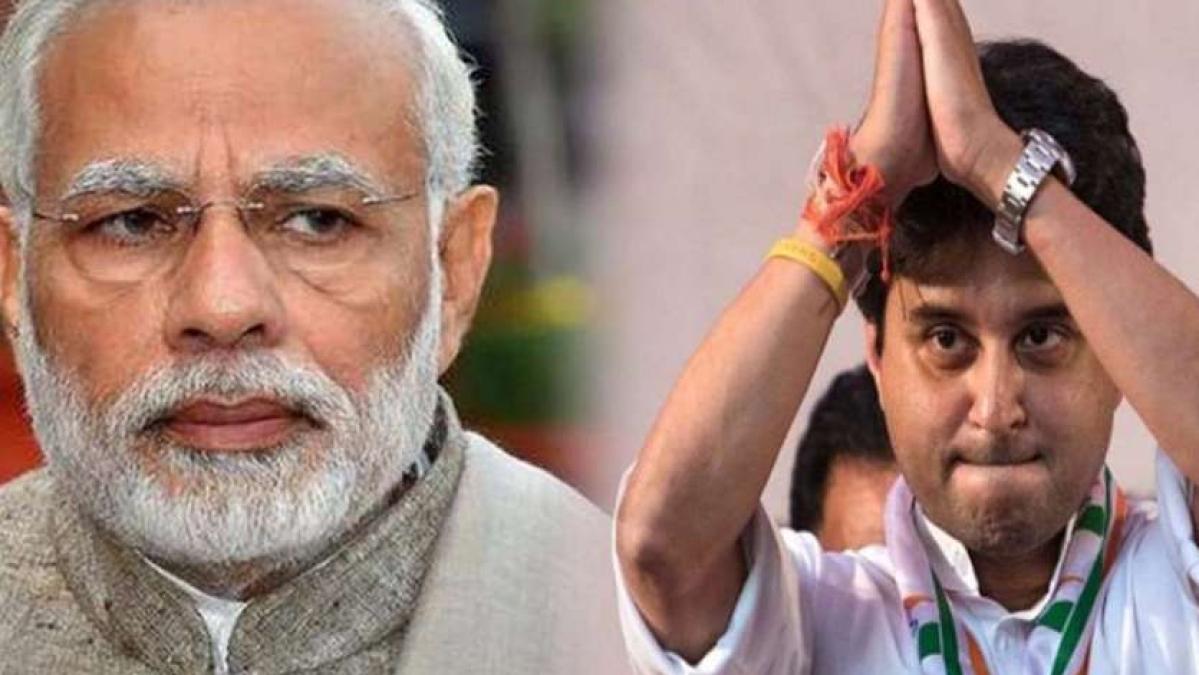 PM Modi and jyotiraditya scindia Meeting