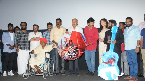 Cast and crew at the audio launch of 'Gypsy'.