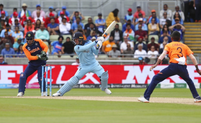 Jason Roy Plays a cut shot.