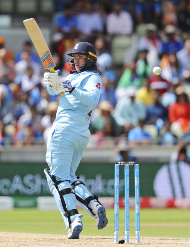 Jason Roy Plays a shot.