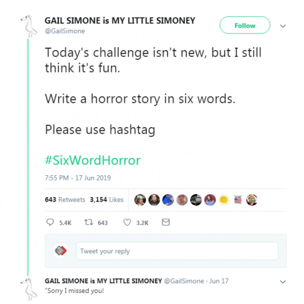 இணையத்தைத் திகிலாக்கும் #SixWordHorror டிரெண்ட்!