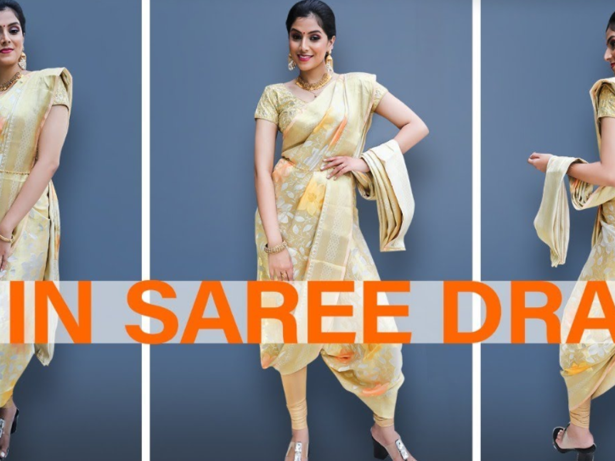 Dhoti Style Saree Drape in 1min!  | Party wear