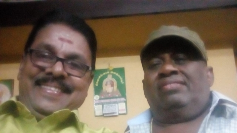 Writer Rajagopal with Senthil