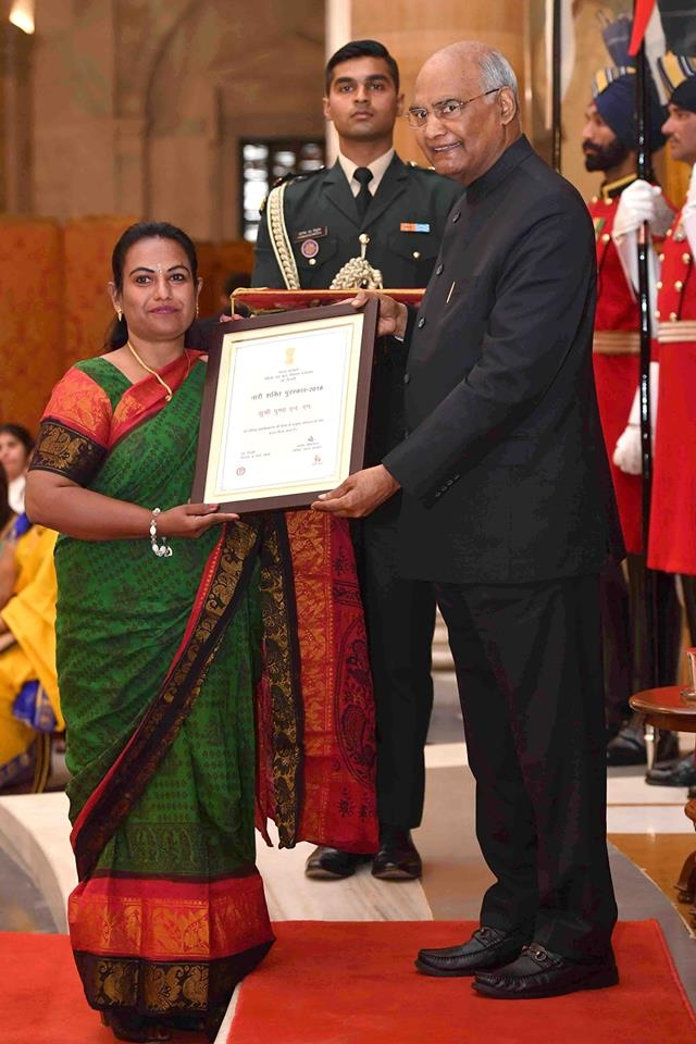 Pushpa with President