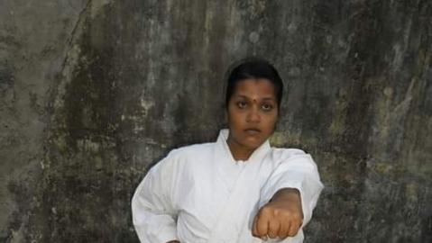Karate master Sangeetha